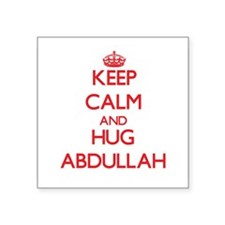 Keep Calm and HUG Abdullah Sticker