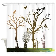 Natural Trumpets Shower Curtain