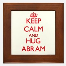 Keep Calm and HUG Abram Framed Tile