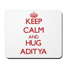 Keep Calm and HUG Aditya Mousepad