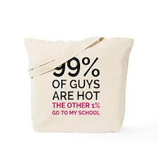 Hot Guys at School Tote Bag