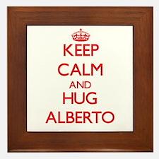 Keep Calm and HUG Alberto Framed Tile