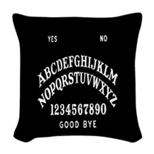 Talking Board Woven Throw Pillow
