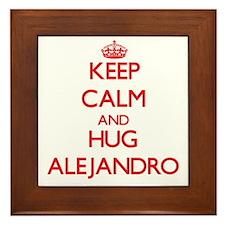 Keep Calm and HUG Alejandro Framed Tile