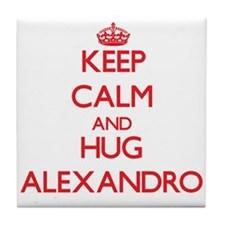 Keep Calm and HUG Alexandro Tile Coaster