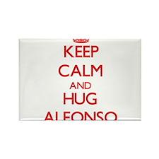 Keep Calm and HUG Alfonso Magnets