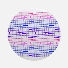Abstract Serendipity Blue Pink 29 Ornament (Round)