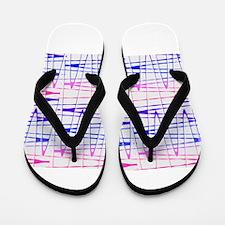 Abstract Serendipity Blue Pink 29 Flip Flops