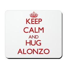 Keep Calm and HUG Alonzo Mousepad