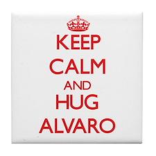 Keep Calm and HUG Alvaro Tile Coaster