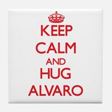 Keep Calm and HUG Alvaro Tile Coaster