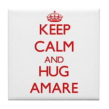 Keep Calm and HUG Amare Tile Coaster