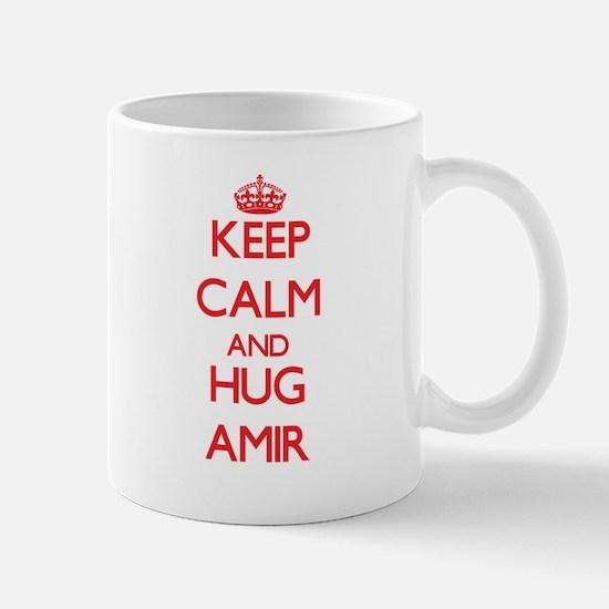 Keep Calm and HUG Amir Mugs
