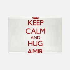 Keep Calm and HUG Amir Magnets
