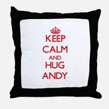 Keep Calm and HUG Andy Throw Pillow