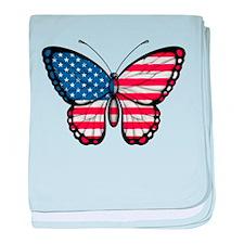 American Butterfly baby blanket