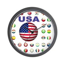 USA soccer 2014 Wall Clock