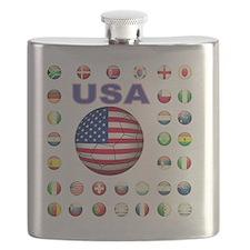 USA soccer 2014 Flask