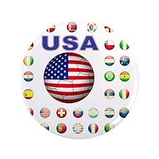"""USA soccer 2014 3.5"""" Button"""