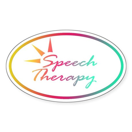 Speech Therapy Oval Sticker