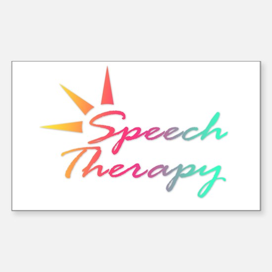 Speech Therapy Rectangle Decal