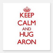 "Keep Calm and HUG Aron Square Car Magnet 3"" x 3"""