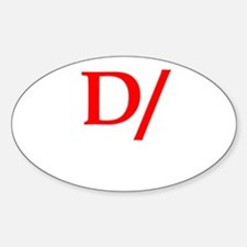 Dominant symbol Oval Decal