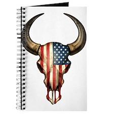 American Flag Bull Skull Journal