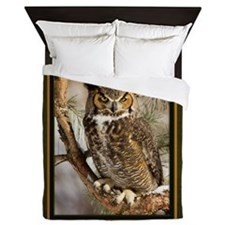 Horned Owl Queen Duvet
