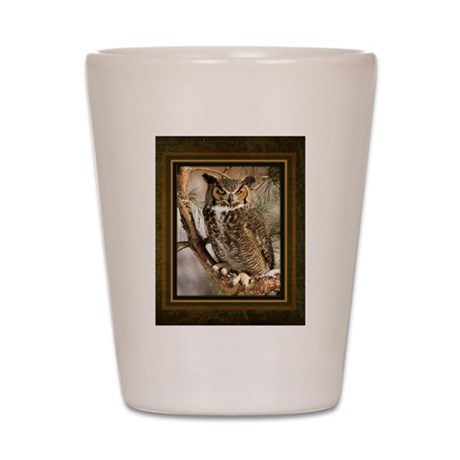 Horned Owl Shot Glass