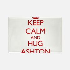 Keep Calm and HUG Ashton Magnets