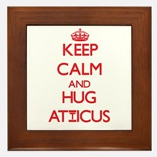 Keep Calm and HUG Atticus Framed Tile