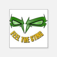 Green_Hornet_-_feel_the_string222 Sticker