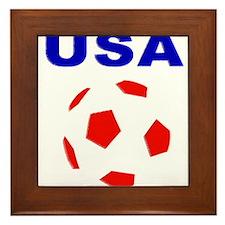 USA Soccer Team 2014 Framed Tile