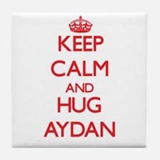 Keep Calm and HUG Aydan Tile Coaster