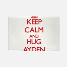 Keep Calm and HUG Ayden Magnets