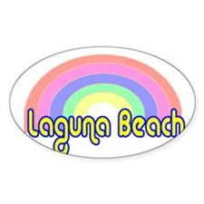 Laguna Beach, California Oval Decal