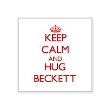 Keep Calm and HUG Beckett Sticker