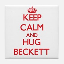 Keep Calm and HUG Beckett Tile Coaster