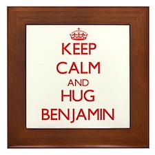 Keep Calm and HUG Benjamin Framed Tile