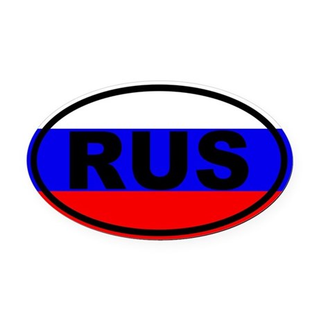 Russia flag Oval Car Magnet