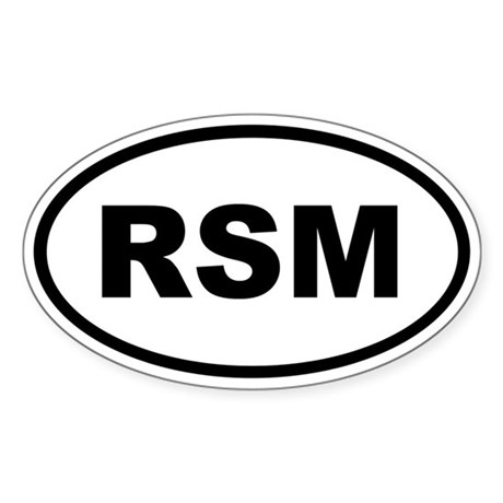 San Marino RSM Sticker