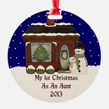 My 1St Christmas As An Aunt 2013 Ornament