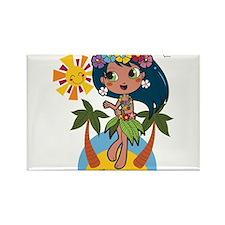 Hula Girl Magnets