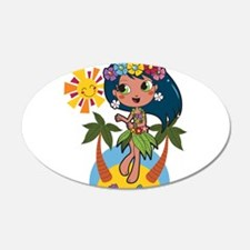 Hula Girl Wall Decal