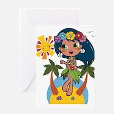 Hula Girl Greeting Cards