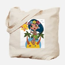 Hula Girl Tote Bag