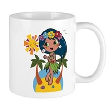 Hula Girl Mugs
