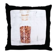 Pepper Spice in a bottle Throw Pillow
