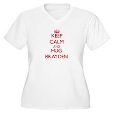 Keep Calm and HUG Brayden Plus Size T-Shirt